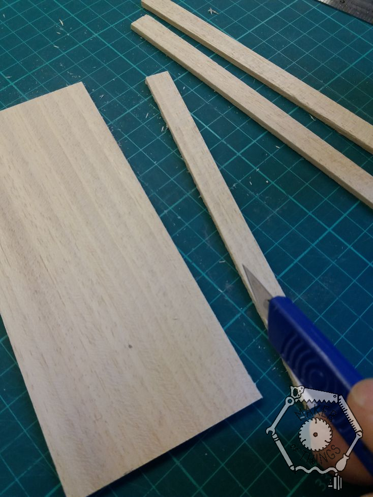 The strip of wood cut off the sheet .