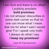 Focus Friday - See God As The Promise Keeper