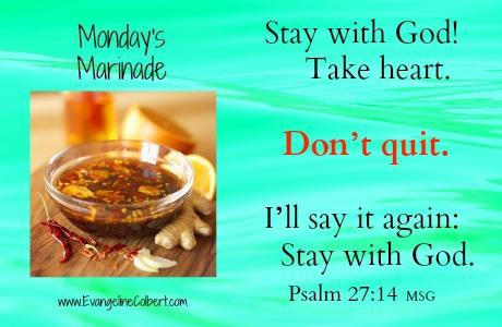 Monday's Marinade Ps 27-14