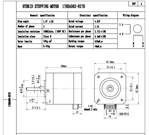 small resolution of nema 17 bipolar stepper 1 8deg 12v 1 5a 0 65nm 42x42x60mm 4 wires nema17