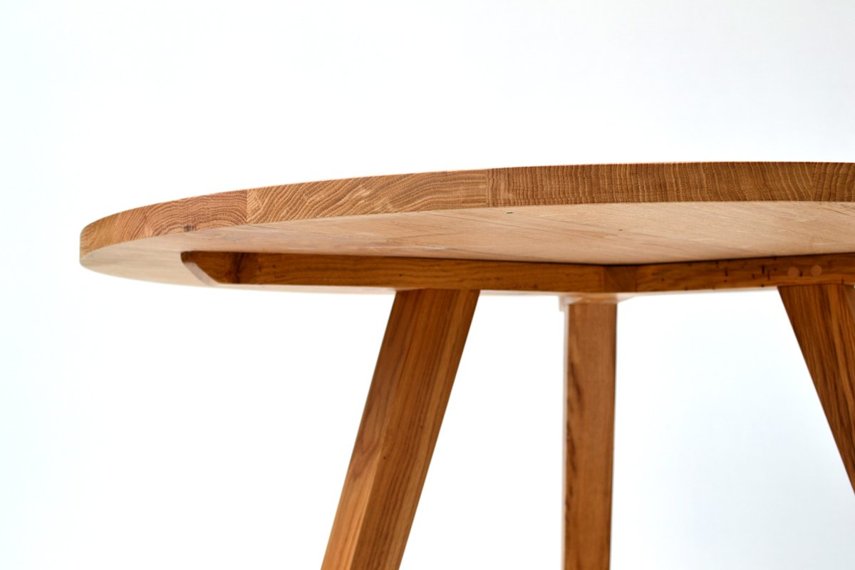 Round Oak Dining Table  Handmade Oak Tables  Makers