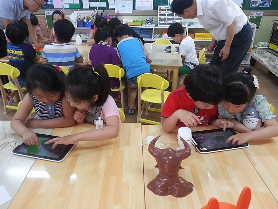 Korean Kindergarten Kids learn 3D printing with Makers Empire