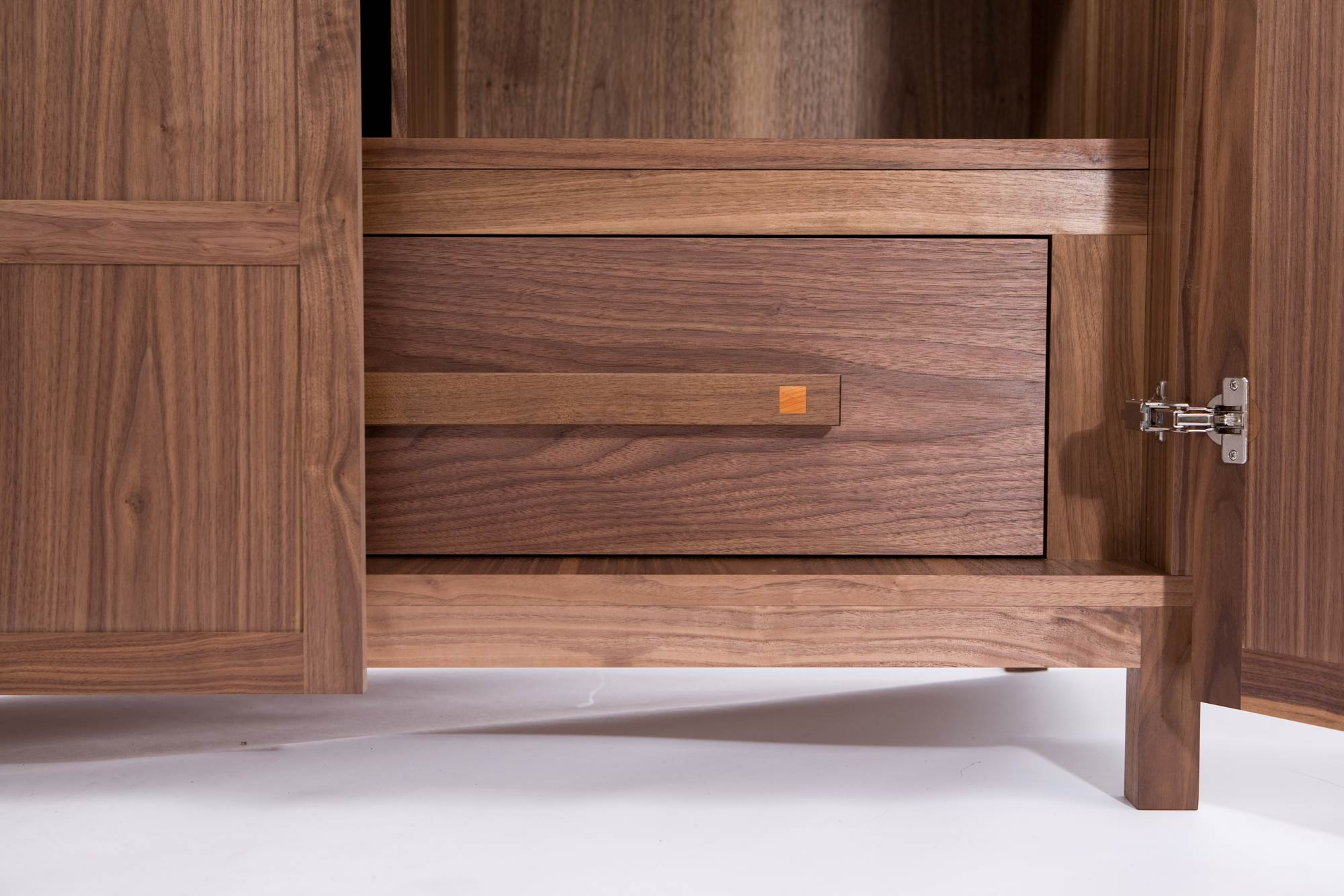 Wardrobe with secret compartment in walnut  Makers Eye
