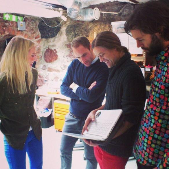 Stockholm Makerspace, Filippa Malmegård. Tom Cheshire, Carl Bärstad och Gustaf Josefsson