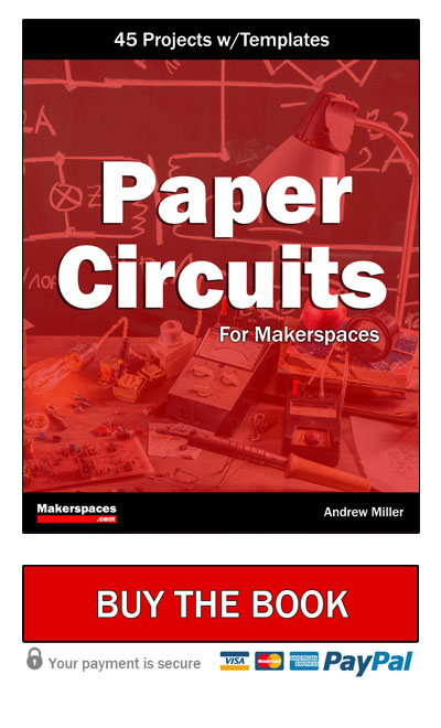 paper circuits book button