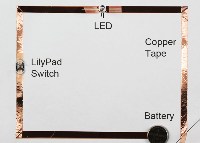 paper circuit with lilypad switch