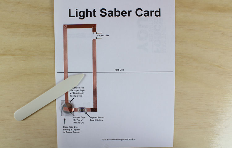 fold paper circuit template