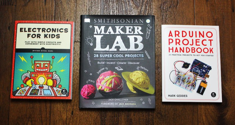 makerspace book giveaway 3 books