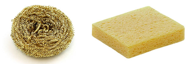 how to solder sponges