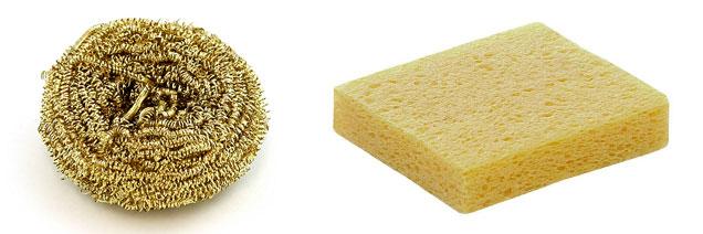 how to solder sponges
