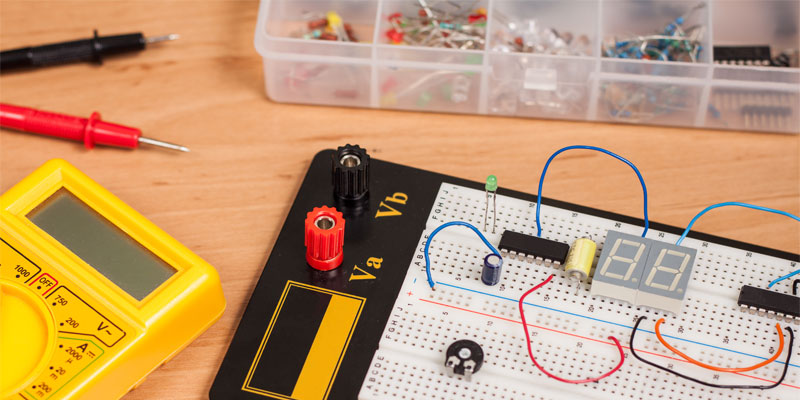introduction to basic electronics electronic components and projects rh makerspaces com Electronic Board Electronic Project Kits Breadboard