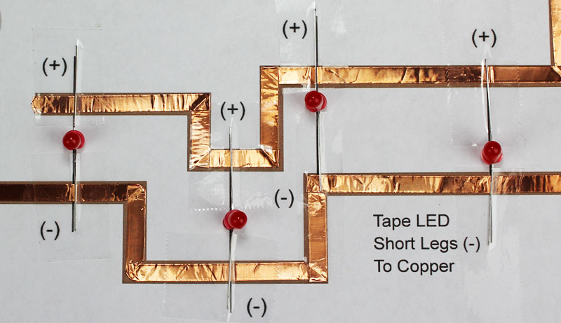 christmas lightup cards w paper circuits  stem