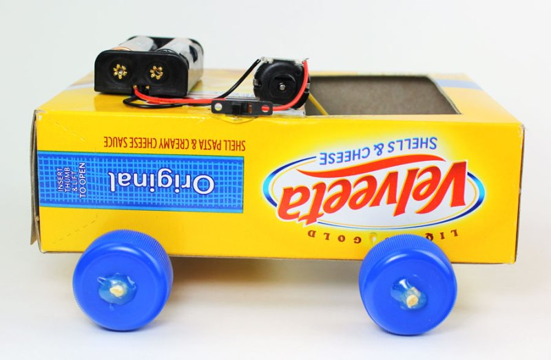 Make A Car >> Make A Simple Battery Powered Diy Car Science Fair Makerspace