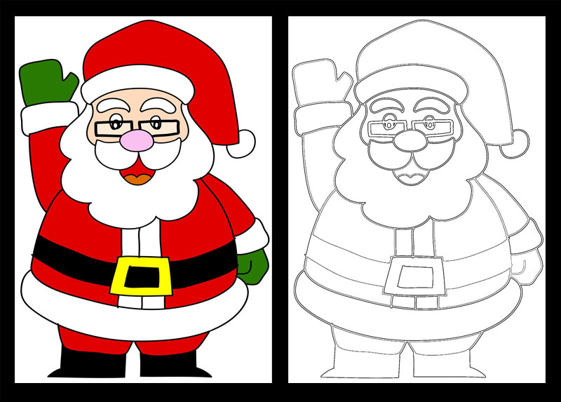 holiday christmas paper circuits templates
