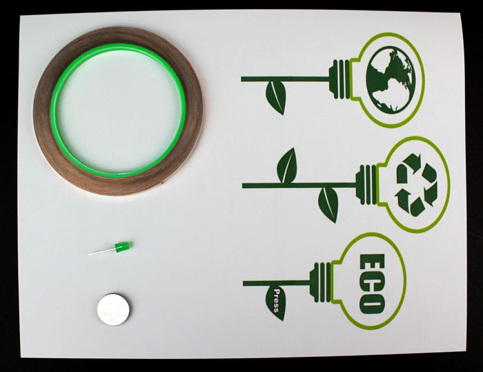 earth day paper circuit makerspace project materials