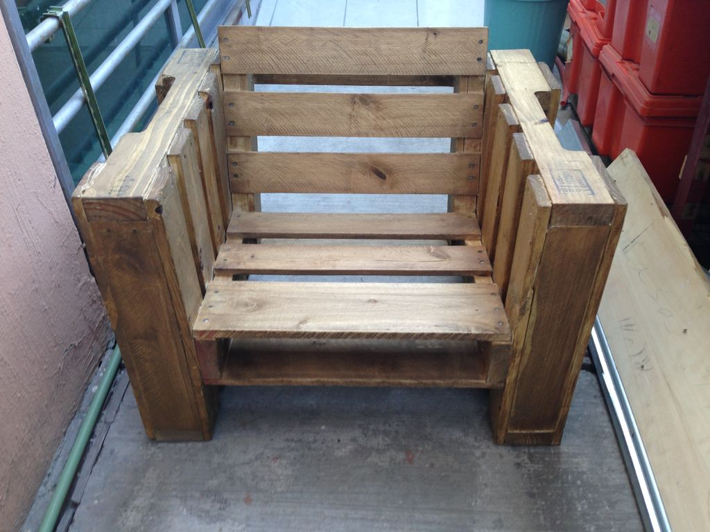 pallet wood chair fishing small do it yourself be makery