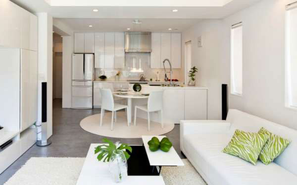 interior design for small living room and kitchen swing ideas layout options trends 2018 with zoning the most popular