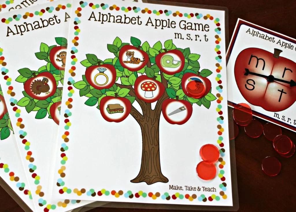 Apple Alphabet Game  Make Take  Teach