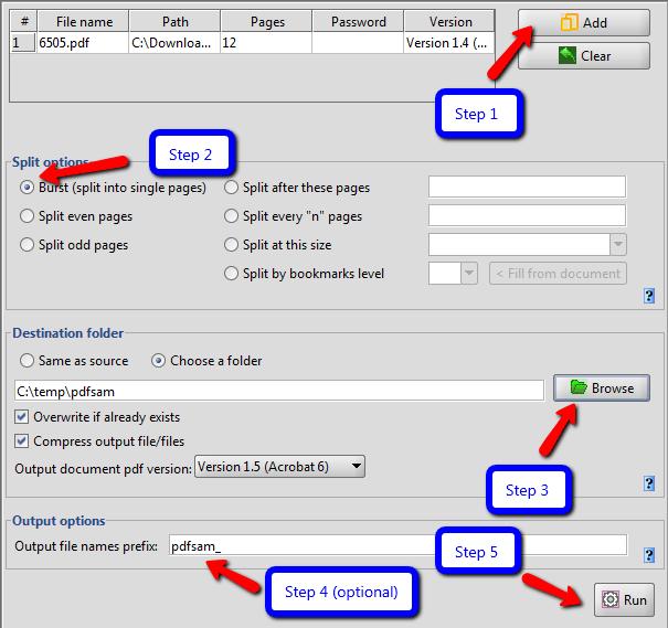 How to Split PDF Files In Windows