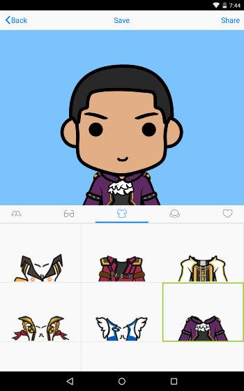 Android Create Avatar - FaceQ