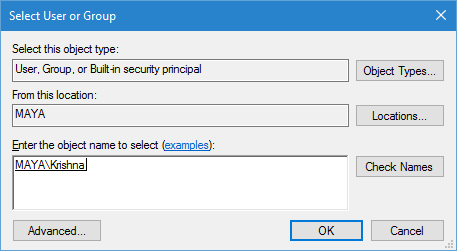 WindowsApps-Ordner-Enter-Benutzername