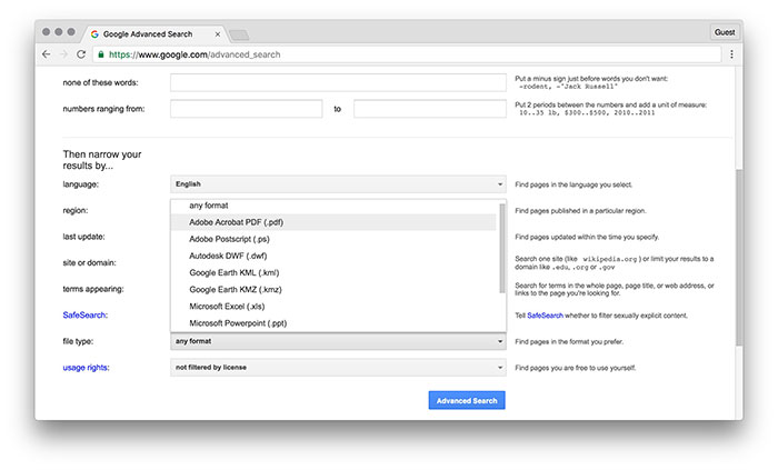 How to Make Use of Google's Advanced Search Features