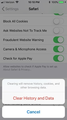 iphone-clear-history-and-data