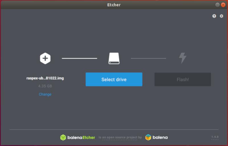Flash RaspEX Etcher