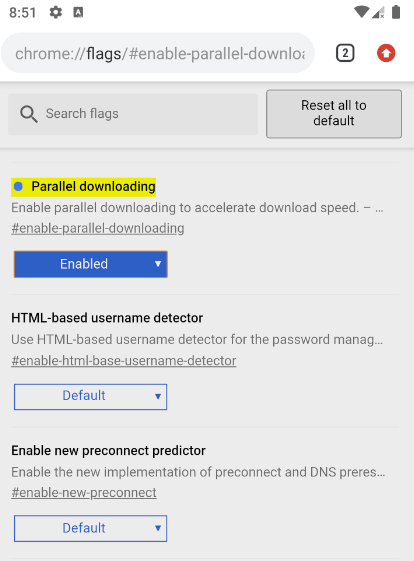 Android Chrome Flag Paralleles Herunterladen
