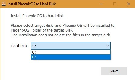 Install Phoenix Os To Hard Disk