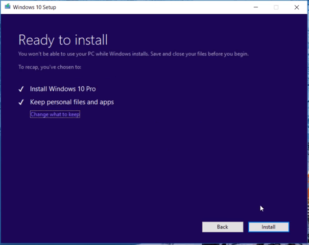 Windows 10-Startmenüsuche funktioniert nicht Installationsbereit