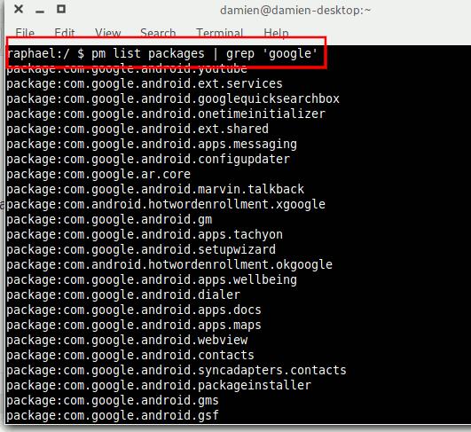 Android Bloatware deinstallieren Liste Google Apps