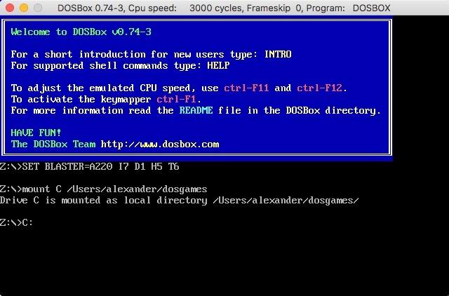 Dosbox Mount Directory-Befehlslaufwerk