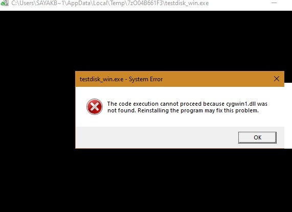 Restore Accidentally Deleted Crashed Hard Drive Testdisk Cygwin Dll Error
