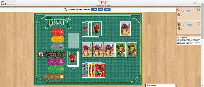 Brettspiele Boardgamearena