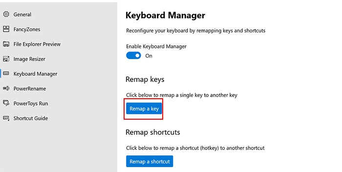 Remap Windows Key Remap A Key
