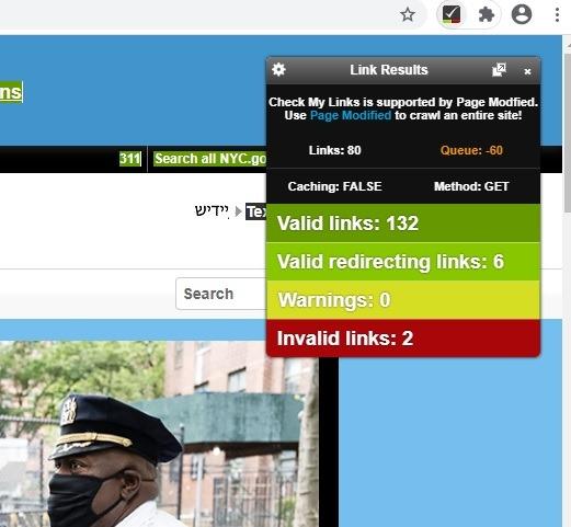 Chrome Web Checkmylinks 1