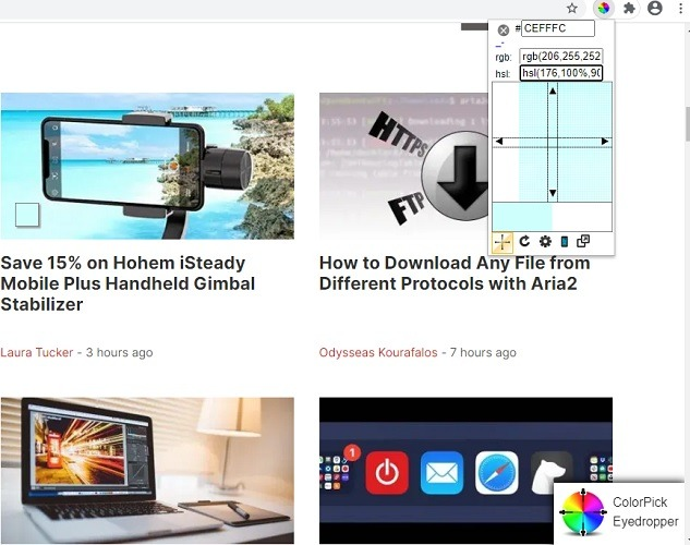 Chrome Web Color Pick Eyedropper 1