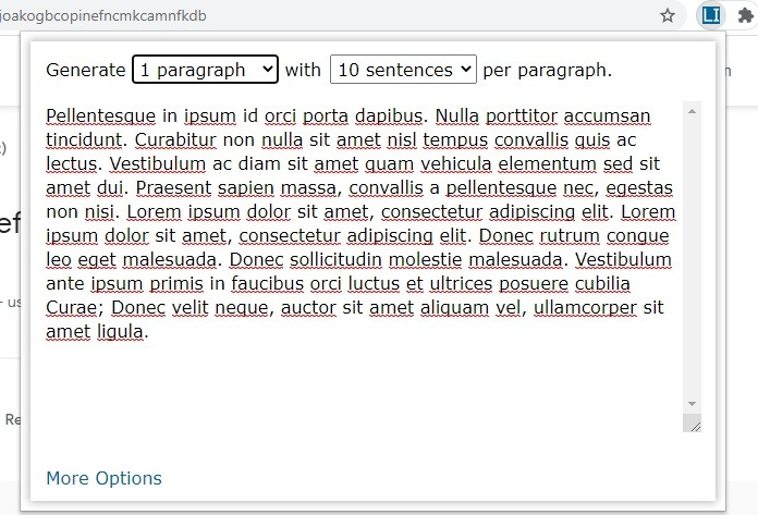 Chrome Web Lorem Ipsum Generator 1
