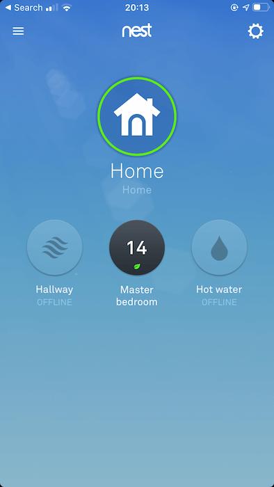 Sie können alle Ihre Nest-Thermostate in der Nest-Anwendung für Android und iOS anzeigen.
