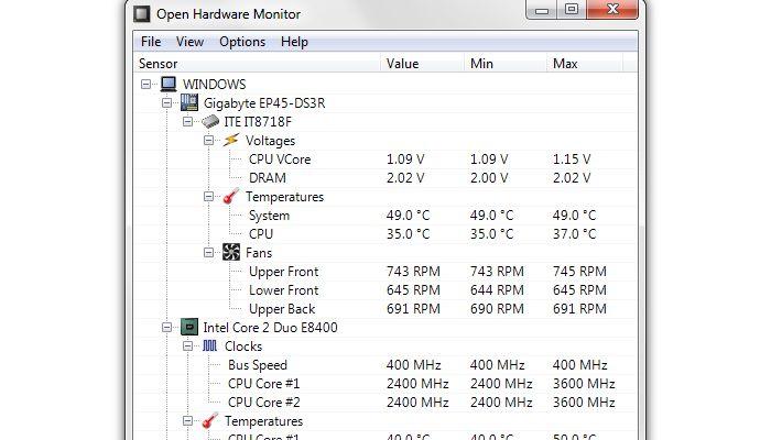 PC Power OpenHardwaremonitor