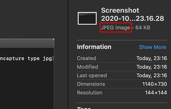 Change Screenshot Format Macos Format