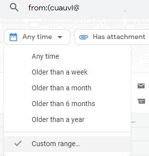 Sortieren Sie Google Mail-Filter nach benutzerdefiniertem Bereich