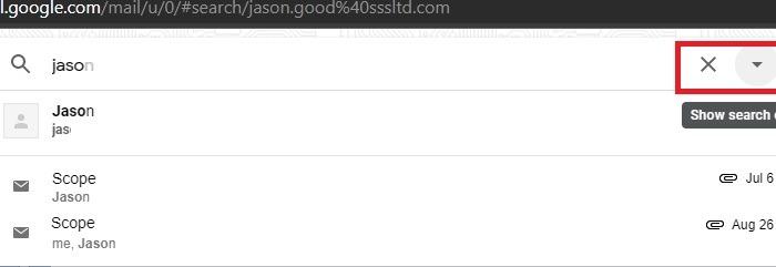 Google Mail-Filter sortieren Suche anzeigen