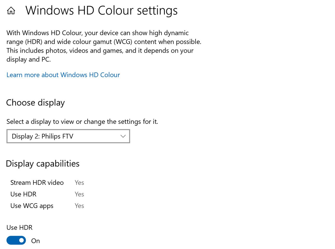 Schließen Sie den Laptop an, um den TV-HDR-Modus zu überwachen