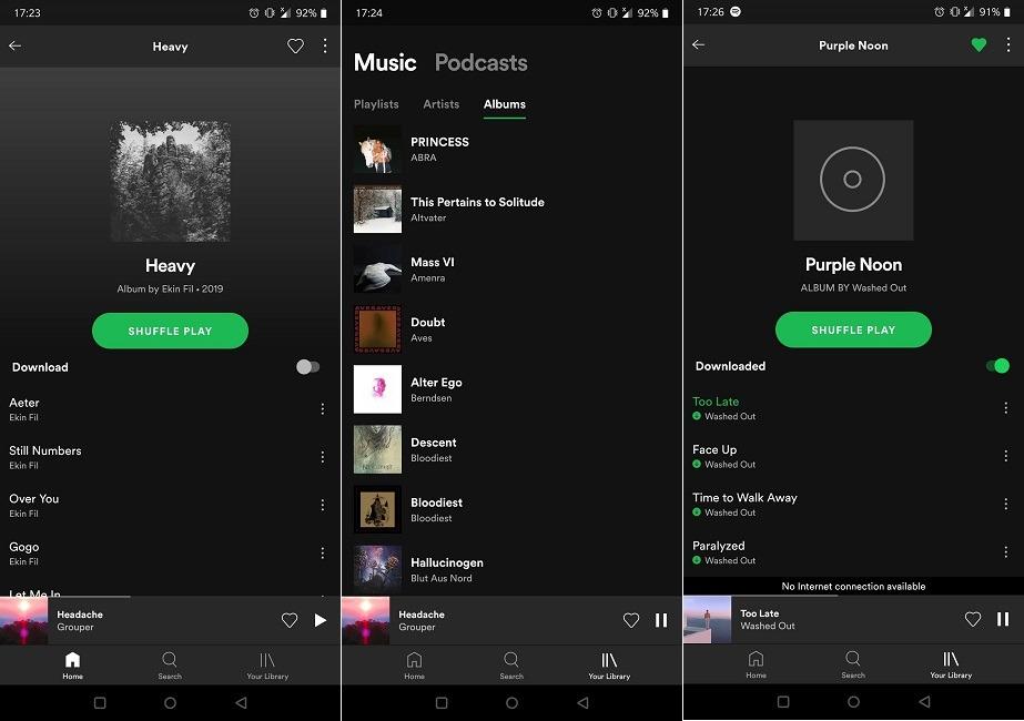 Beste Apps Offline Verwenden Sie Spotify