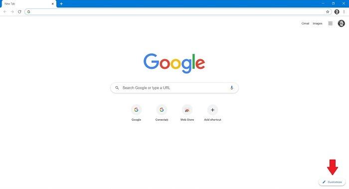 So ändern Sie den Hintergrund der Google-Suche Chrome Desktop
