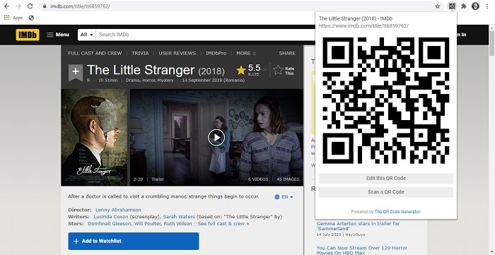 Qr-Code Chrome Code Generated Extension