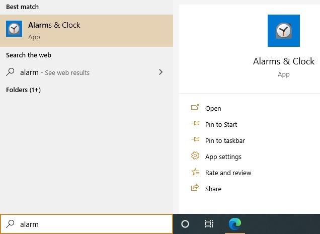 Windows10 Alarme Timer Wecker Uhren App