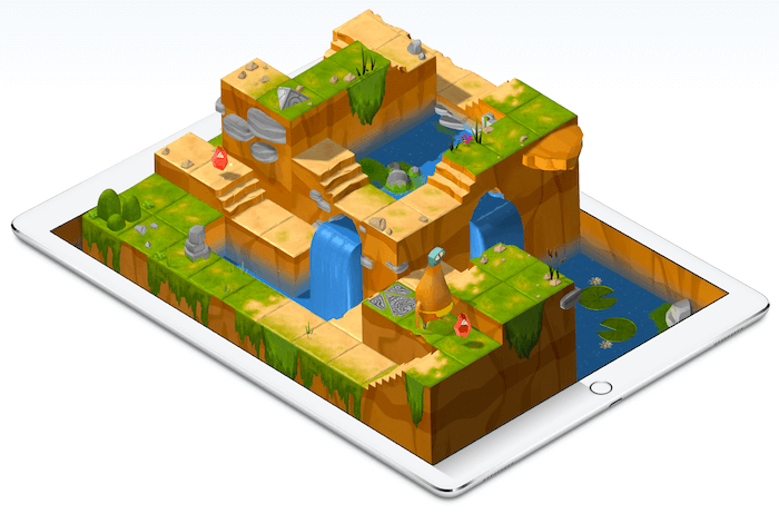 Das Swift Playgrounds-Lernwerkzeug.
